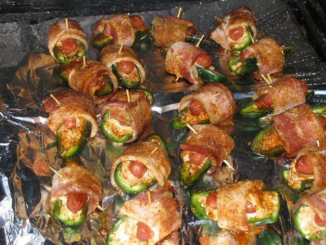 Atomic Buffalo Turds: Grilled Jalapeno Poppers With Sausage and Bacon — The Taste Place