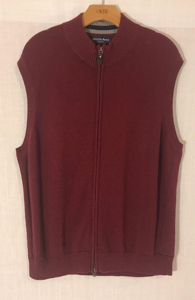 Austin Reed Men S Burgundy Maroon Cotton Cashmere Vest Xl Nwot Fashion Clothing Shoes Accessories Mensclothing Sweaters Cashmere Vest Sweaters Cashmere