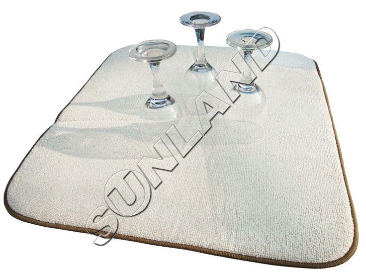 Sinland 40 cm x 46 cm Microfibra Estera Secado Plato De Cocina de Microfibra Almohadilla XL