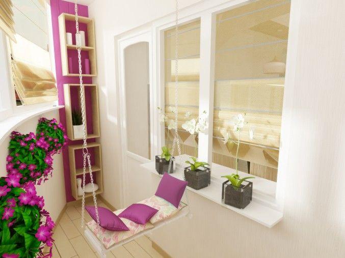 Балкон, Это эко, дизайн интерьера, воронеж, эксплуатиремый балкон, качели, эко стиль, минимализм, яркие акценты, просмотров 228