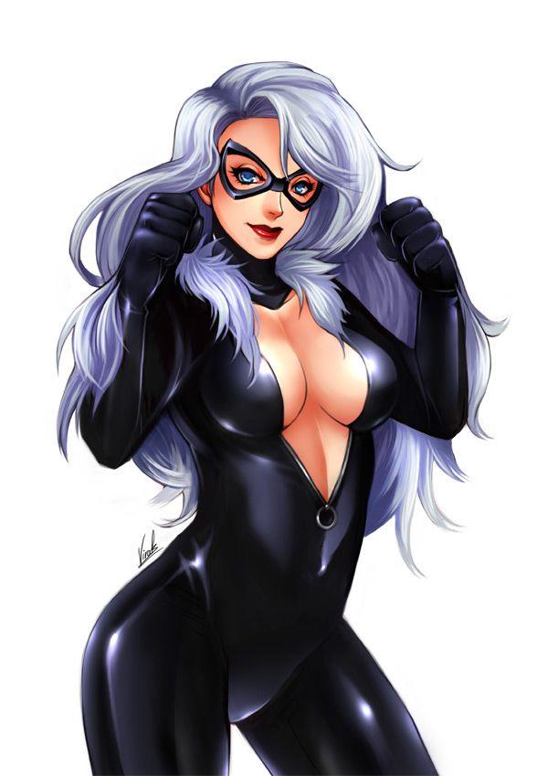 Картинки черная кошка марвел