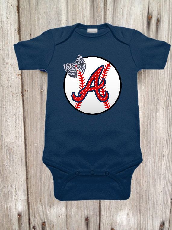 A personal favorite from my Etsy shop https://www.etsy.com/listing/190506995/atlanta-braves-bodysuit-for-baby-girl