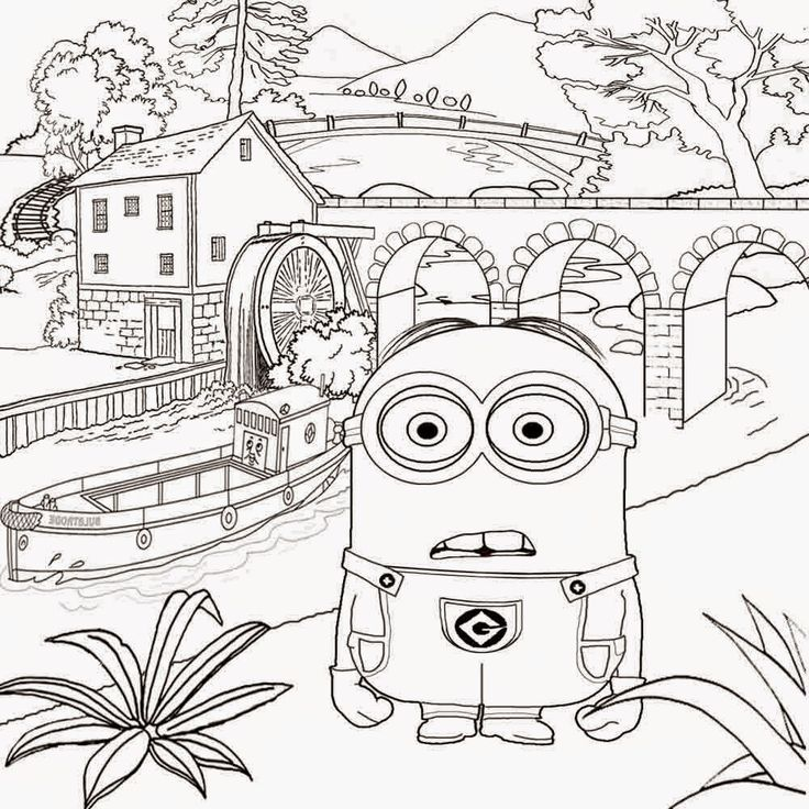 coloring pages minions angen - photo#12
