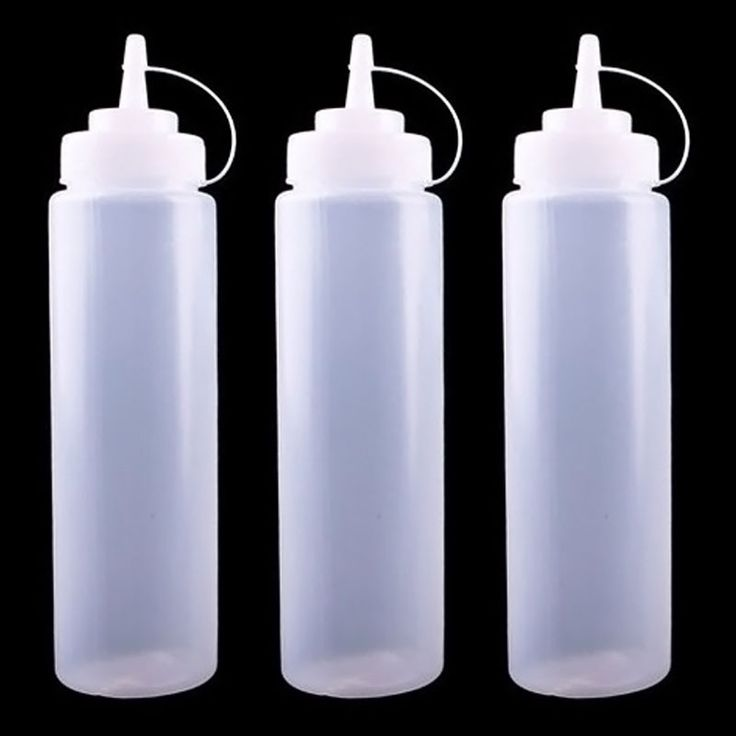 small plastic squeeze bottles