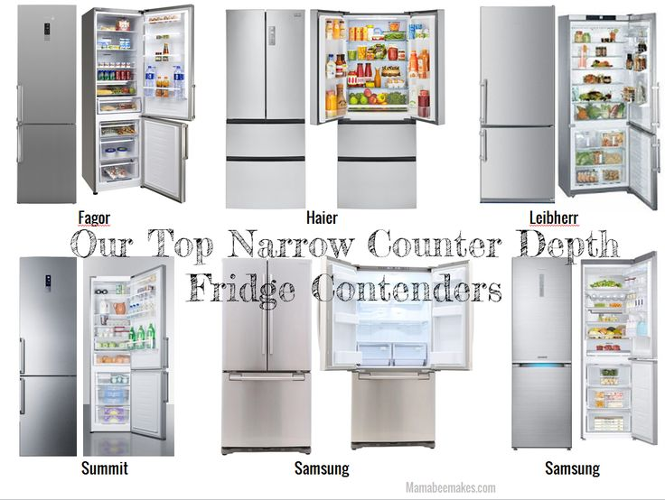 Narrow Counter Depth Refrigerator