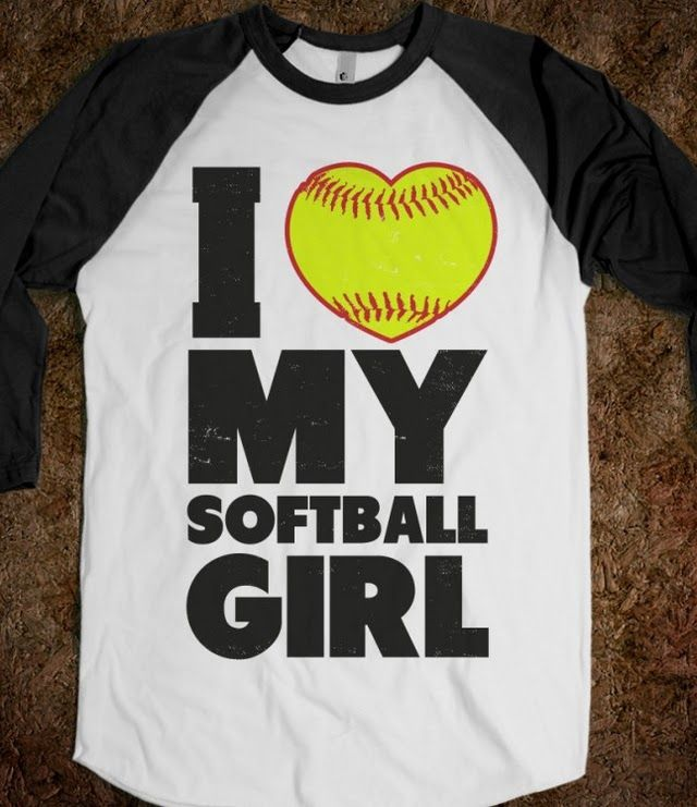 I recently posted the I love my baseball boy shirt so the boy can get this shirt! Baseball softball couples are the best! <333