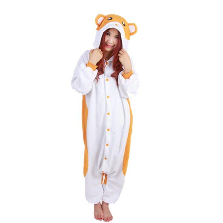 Hamster kigurumi pyjamas anime cosplay costume unisexe adulte onesie