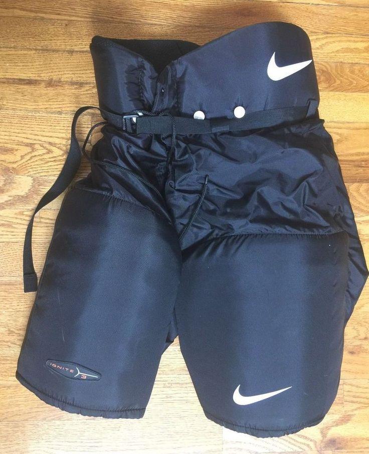 Nike Ignite 3 III Black Nylon Hockey Pants Padded Senior Large L    eBay
