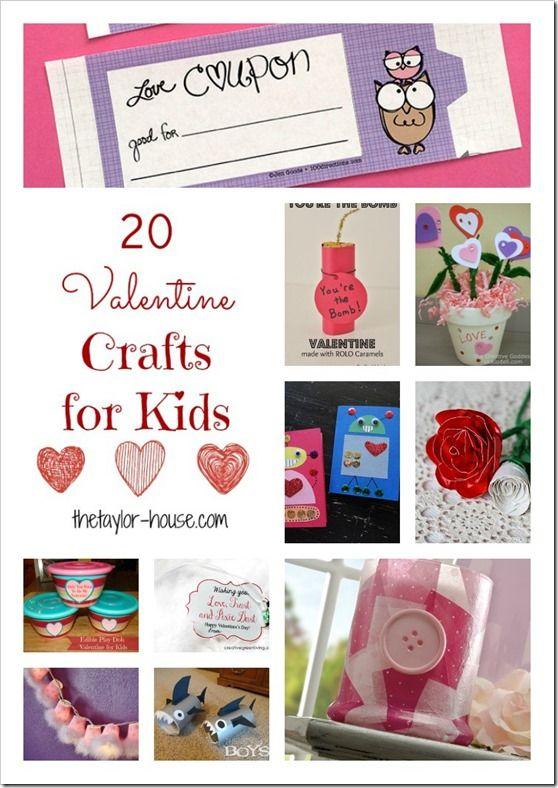 Valentine Ideas: 20 Kid Valentine Crafts