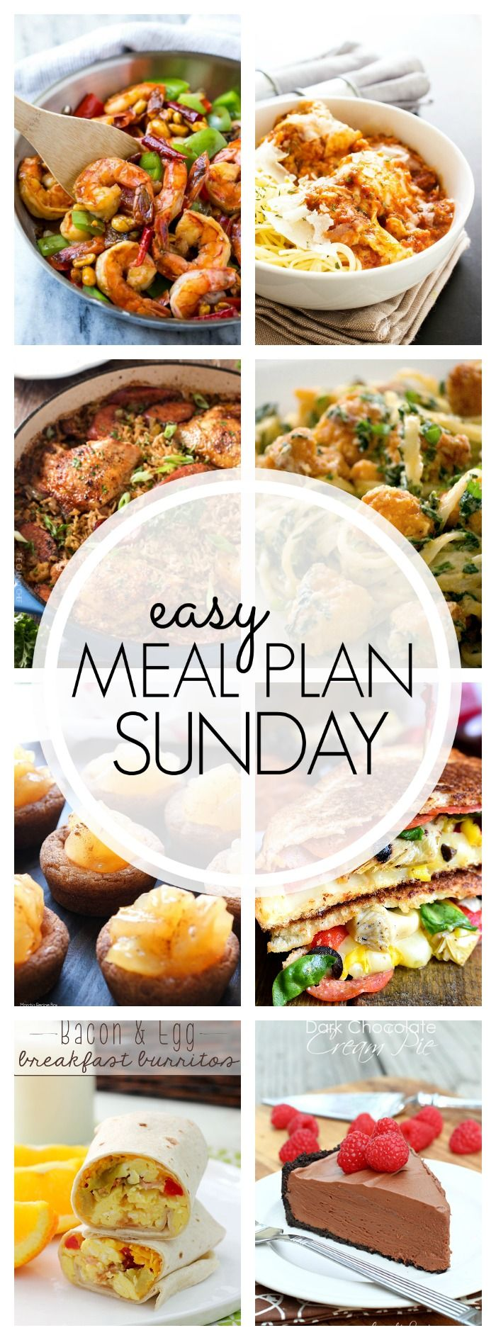 With Easy Meal Plan Sunday Week 88 - six dinners, two desserts, a breakfast and a healthy menu option will help get the week's meal planning done quickly!