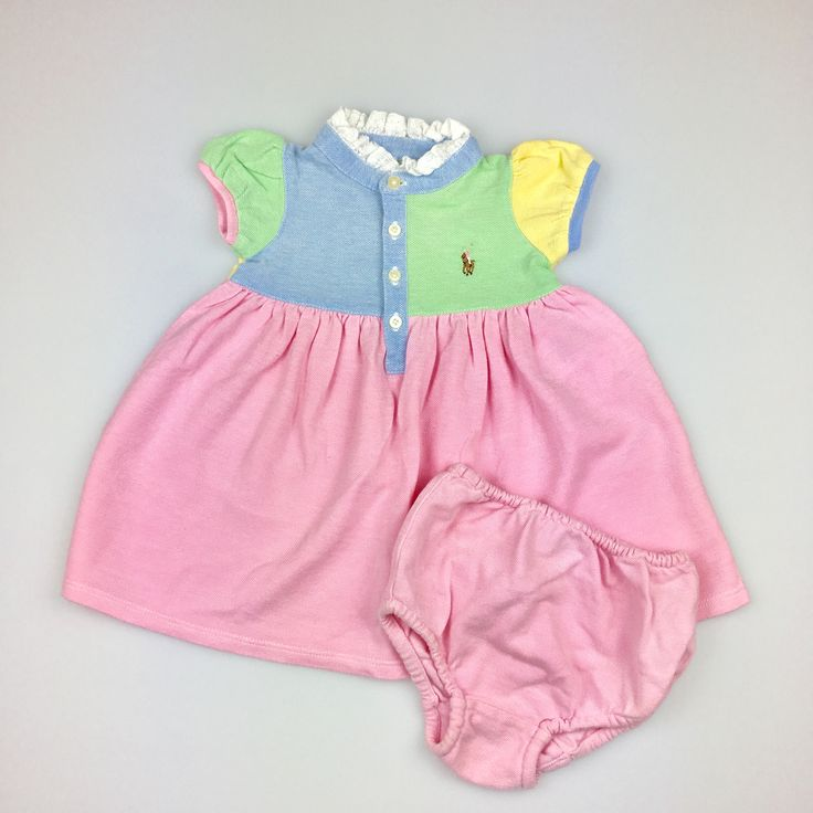 RALPH LAUREN, baby girl's cotton dress and bloomers, excellent pre-loved condition (EUC), size 3 months, $22