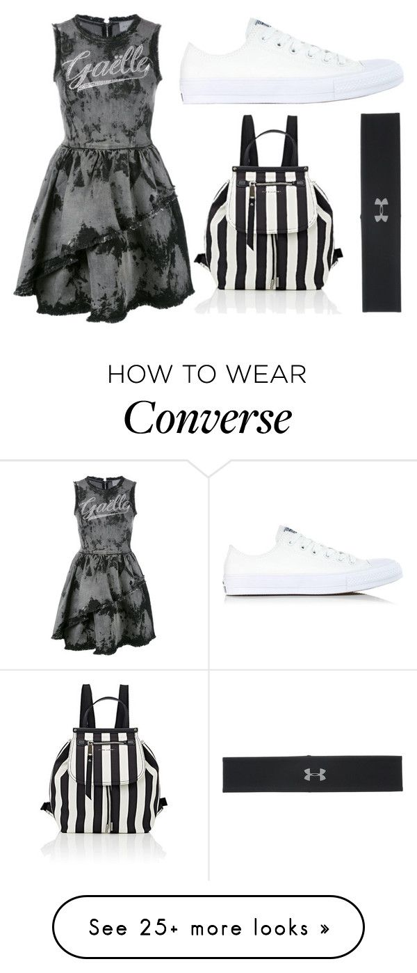 """""""Schools coming to an end soon"""" by gretchenlover on Polyvore featuring Gaëlle Bonheur, Converse, Marc Jacobs and Under Armour"""