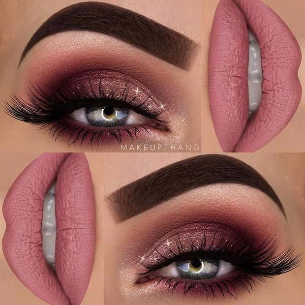 23 Glam Makeup Ideas For Christmas 21 Pink Shades And Glitter