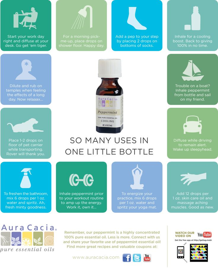 Peppermint essential oil throughout your day...