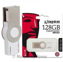 KINGSTON CHIAVETTA ORIGINAL USB 2.0 3.0 PEN DRIVE MEMORY KEY DATA TRAVELER 128GB NUOVA . SU WWW.MAXYSHOPPOWER.COM