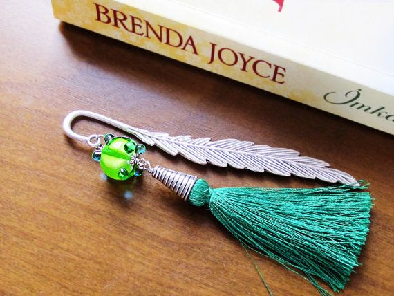 Bookmark Handmade Bookmark Beaded Bookmark by GlassHouseLampwork, $15.00