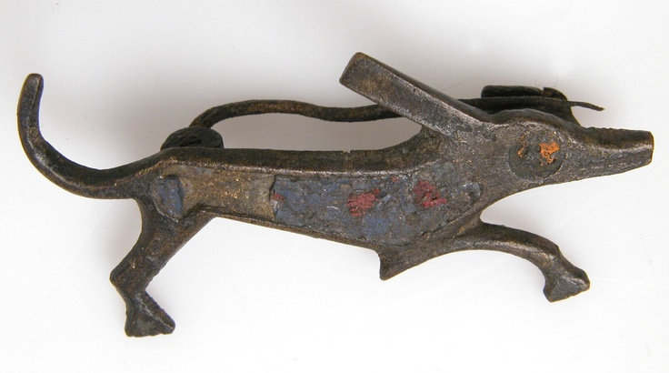 Brooch in the Form of a Dog, 2nd century, Roman. Champlevé enamel, bronze .