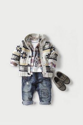 Boy's Winter Sweater Outfit by vintage pretty. Stylin!