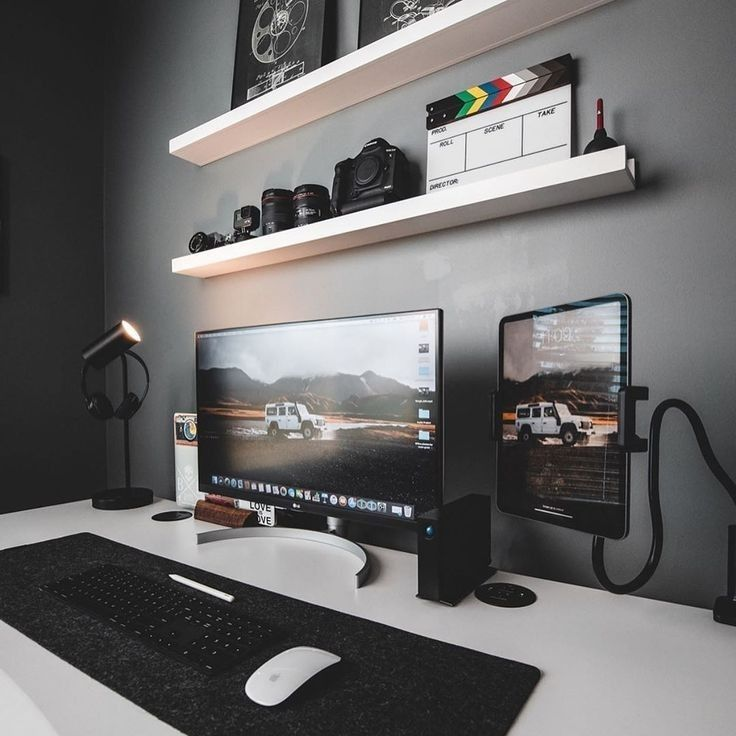 Best Ergonomic Office Chair Desk Setup Gaming Design Ideas Inspiration In 2020 Home Office Setup Bedroom Setup Office Setup
