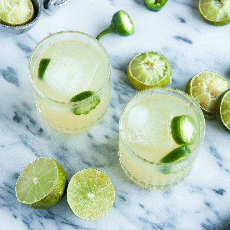 Jalapeno Lime Margaritas: Jalapenos infuse the tequila for at least 15 minutes, then are shaken up with the rest of the margarita ingredients.
