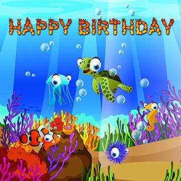 Sea Life Birthday 1 - Splash Of Color