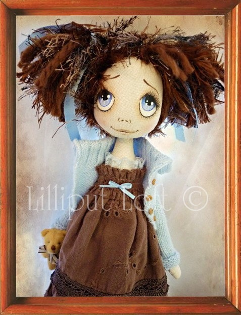 PRINT of Urchin Art Doll Childhood Collection Giavanna