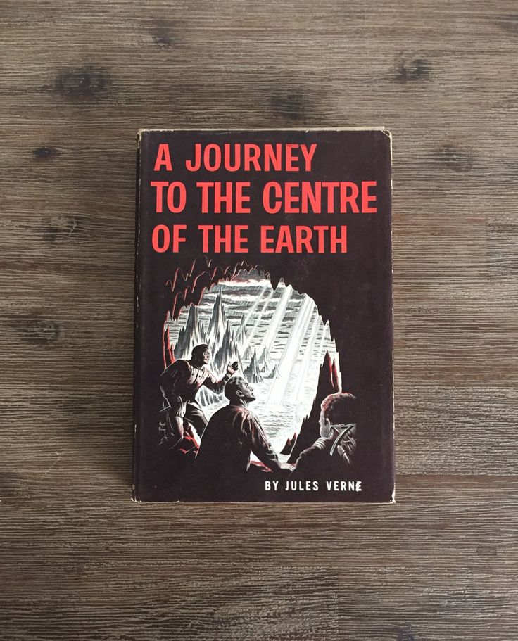 A Journey To The Centre Of The Earth by Jules Verne; 1959 Book Club Edition; Science Fiction Novel; Vintage Book; Classic Book by Speckadoos on Etsy