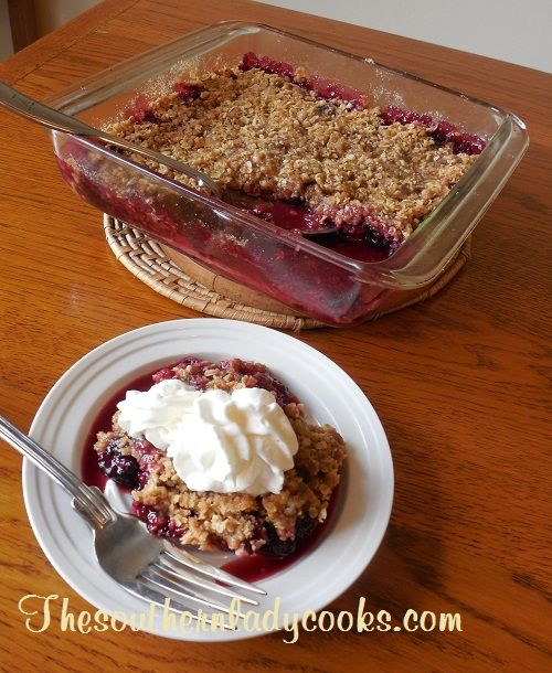 Blackberry Crumble. Simple recipe and takes less than 40 minutes to make!