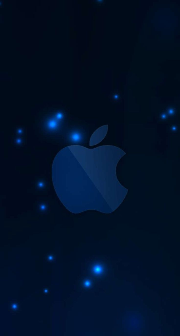 appleロゴ青 iPhone5s壁紙