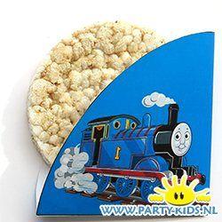 Thomas de trein rijstwafel of stroopwafel