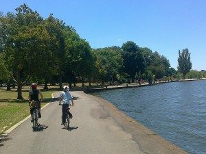 """The ride around the Lake was an easy 6km, with pit-stops including the enormous Ballarat Community Adventure Playground (a huge hit with our boys), the picturesque  Botanical Gardens, and the friendly, laidback Ballarat Lakeside Farmers Market."""