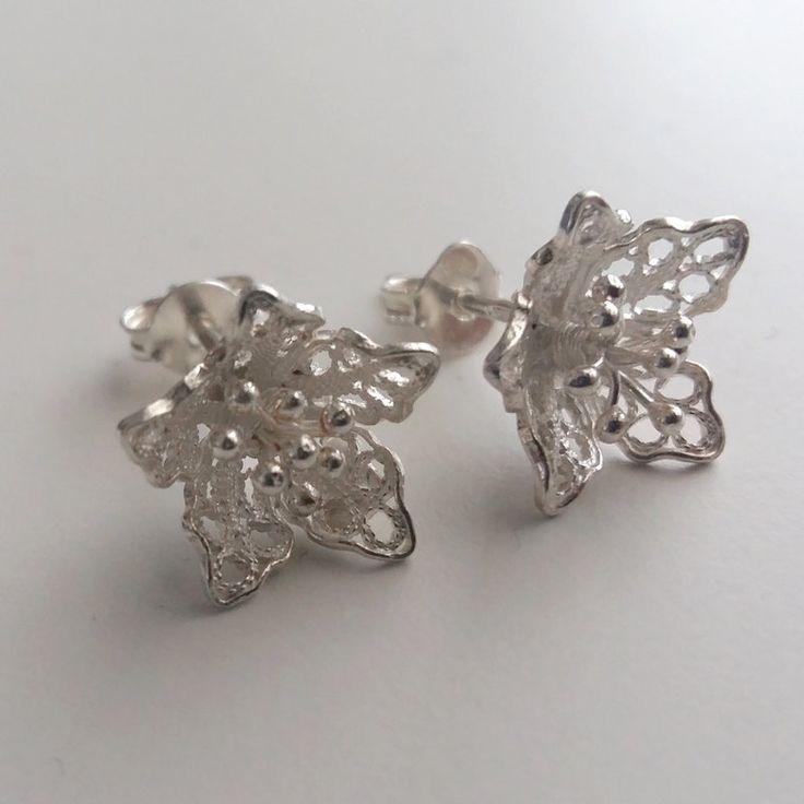 Filigree Earrings Lirio Flower Earrings Stud Earrings