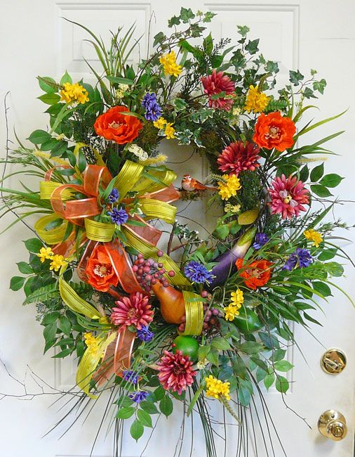 bright summer wreath
