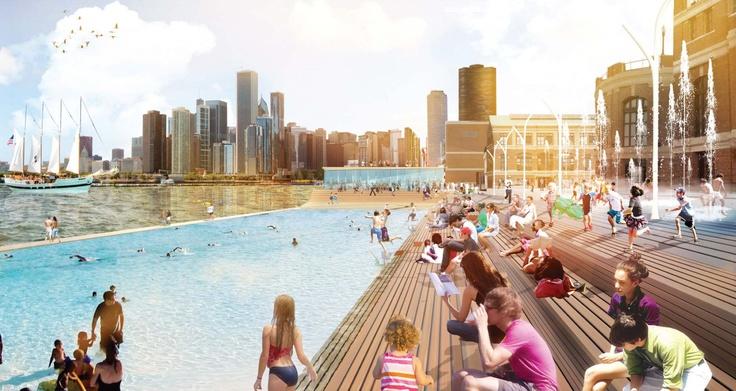 Chicago's landmark Navy Pier. James Corner Field Operations.