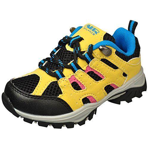 perfect Air Balance Baby Boys Hiking Boots -Black/Yellow