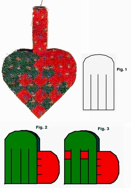 swedish christmas ornaments | Woven Swedish Heart Ornament Instructions