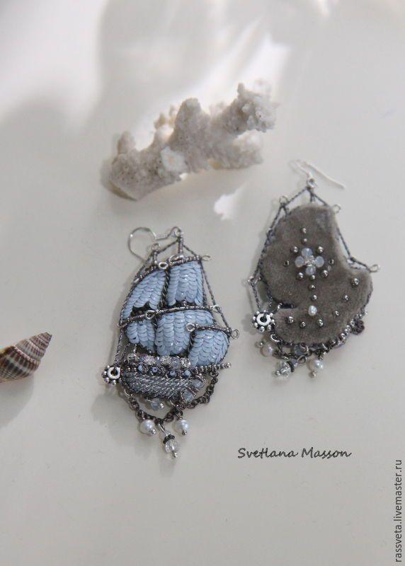 Купить Серьги..Голубая мечта,, - голубой, мечта, мечты, романтика, подарок девушке, подарок женщине