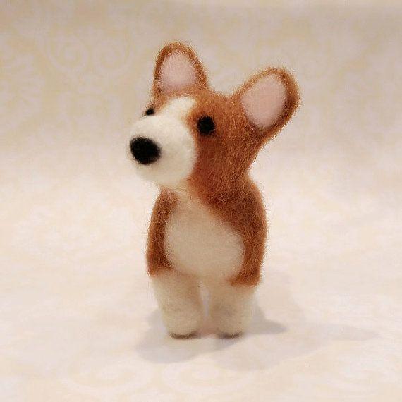 Hey, I found this really awesome Etsy listing at https://www.etsy.com/listing/229238308/needle-felted-corgi-felted-corgi-puppy