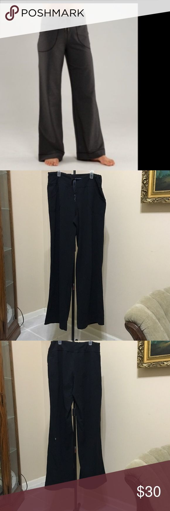 Lululemon wide leg sz8 x32 Lululemon wide leg pants in used condition draw string missing one of the metal ends and some pilling in crotch area no rips or stains lululemon athletica Pants Wide Leg