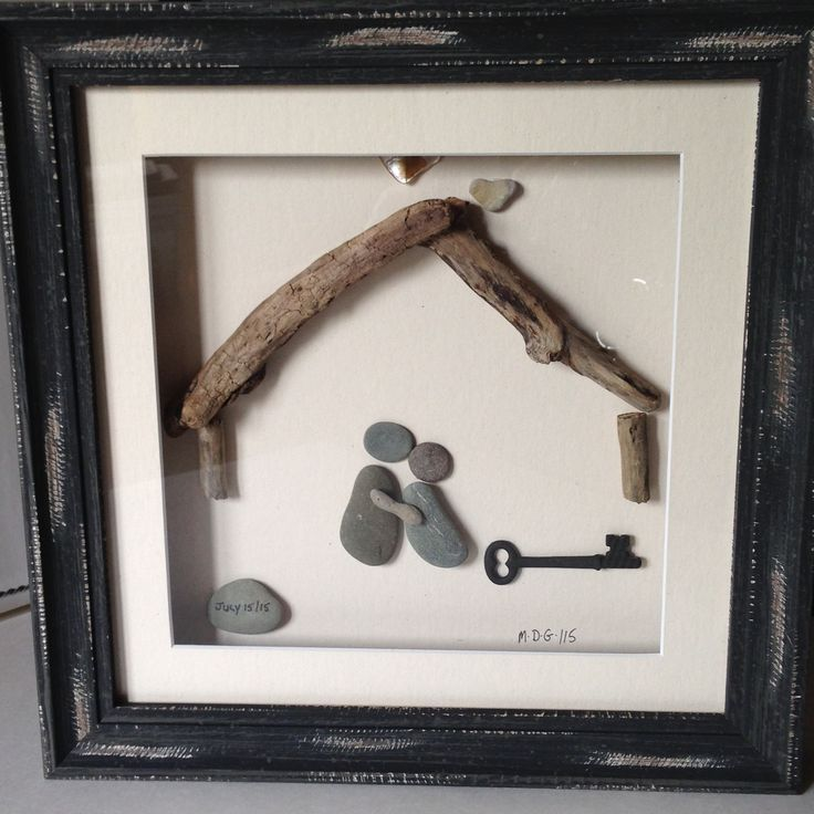 Pebble Art by Denise. Custom picture created for a housewarming gift.