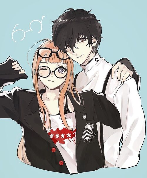 Imagen de couple, persona 5, and sakura futaba