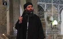 Video grab, allegedly showing the leader of the Islamic State (IS) jihadist group, Abu Bakr al-Baghdadi, adressing Muslim worshippers at a m...