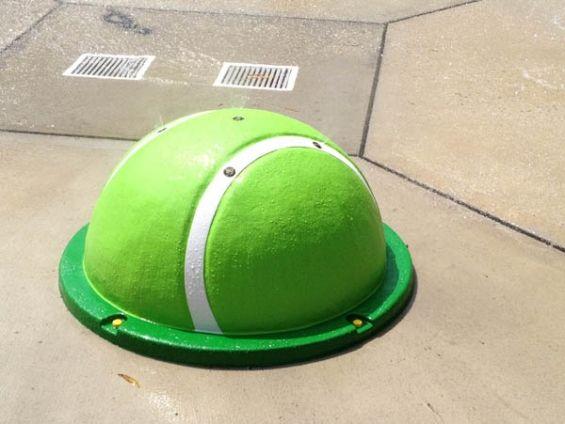 a dogs dream!! a tennis ball that shoots water!    Rain-Drop Products LLC - spraying tennis ball - dog water park idea