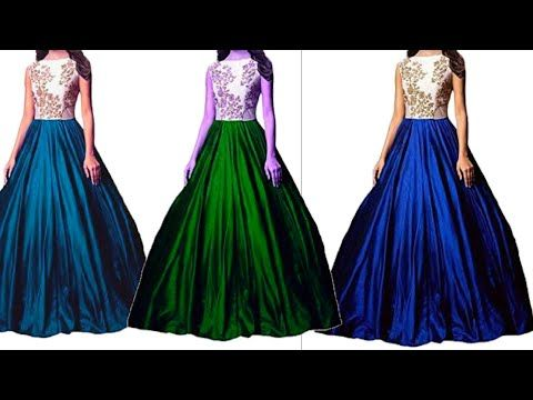 461516ab285 Party wear long gown    cutting and stitching..👌👌 - YouTube ...
