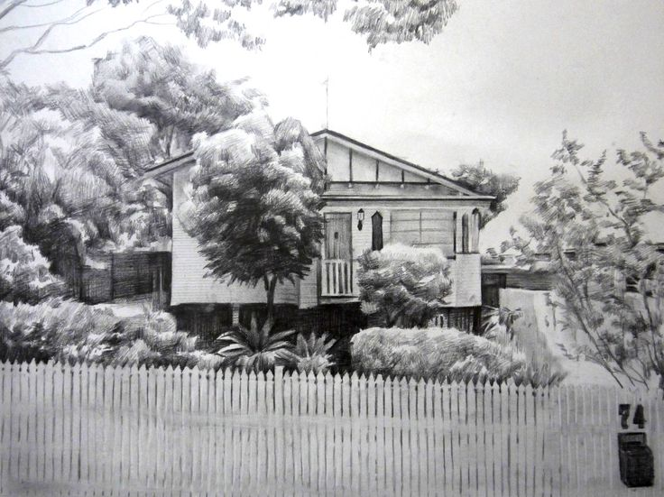 House pencil sketch by Picarto