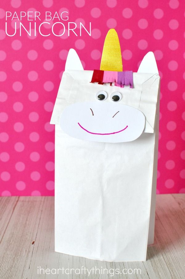 Bring Imaginary Magic Home By Making This Simple Fun And Colorful Paper Bag Unicorn Craft