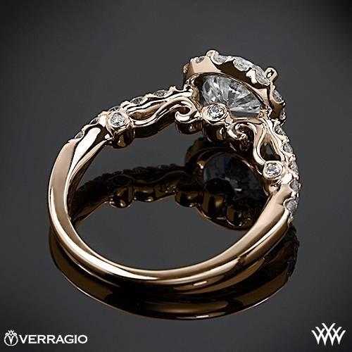 Awesome k Rose Gold Verragio INS Half Eternity Halo Diamond Engagement Ring