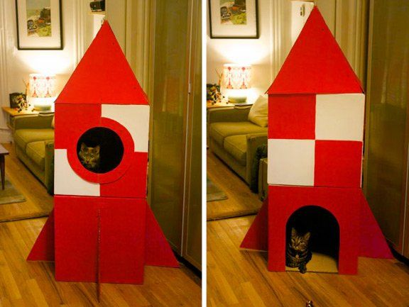 Your cat finds comfort in places where she can see without being seen. Give your cat her very own playhouse with this DIY project from Apartment Therapy. Learn more at www.purinaone.com/HideoutsJournal #cat #DIY #hideout