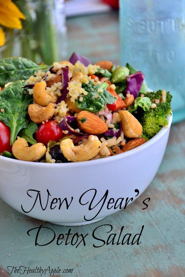 New Year's Detox Salad #vegan #glutenfree #detox