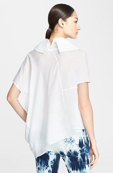 Junya Watanabe Asymmetric Linen Blouse | Nordstrom